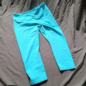 Kiragrace   Turquoise Blue Capri Length Legging L